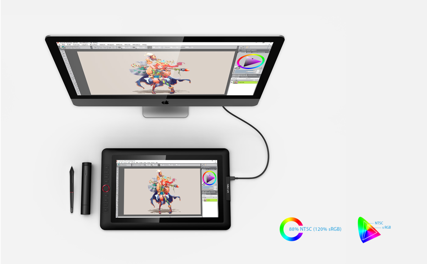 Artist 15.6 Pro  Display Tablet with 72% NTSC Color Gamut