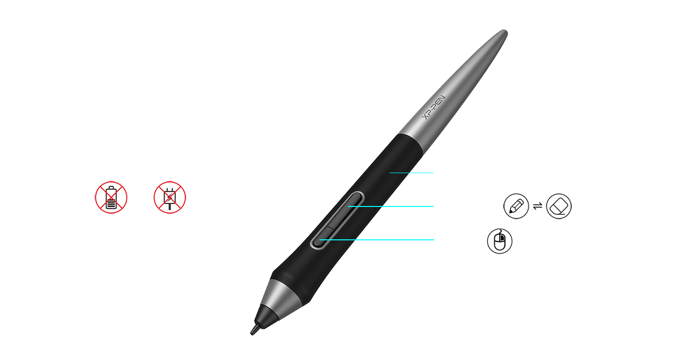 Newly designed PA1 battery-free stylus