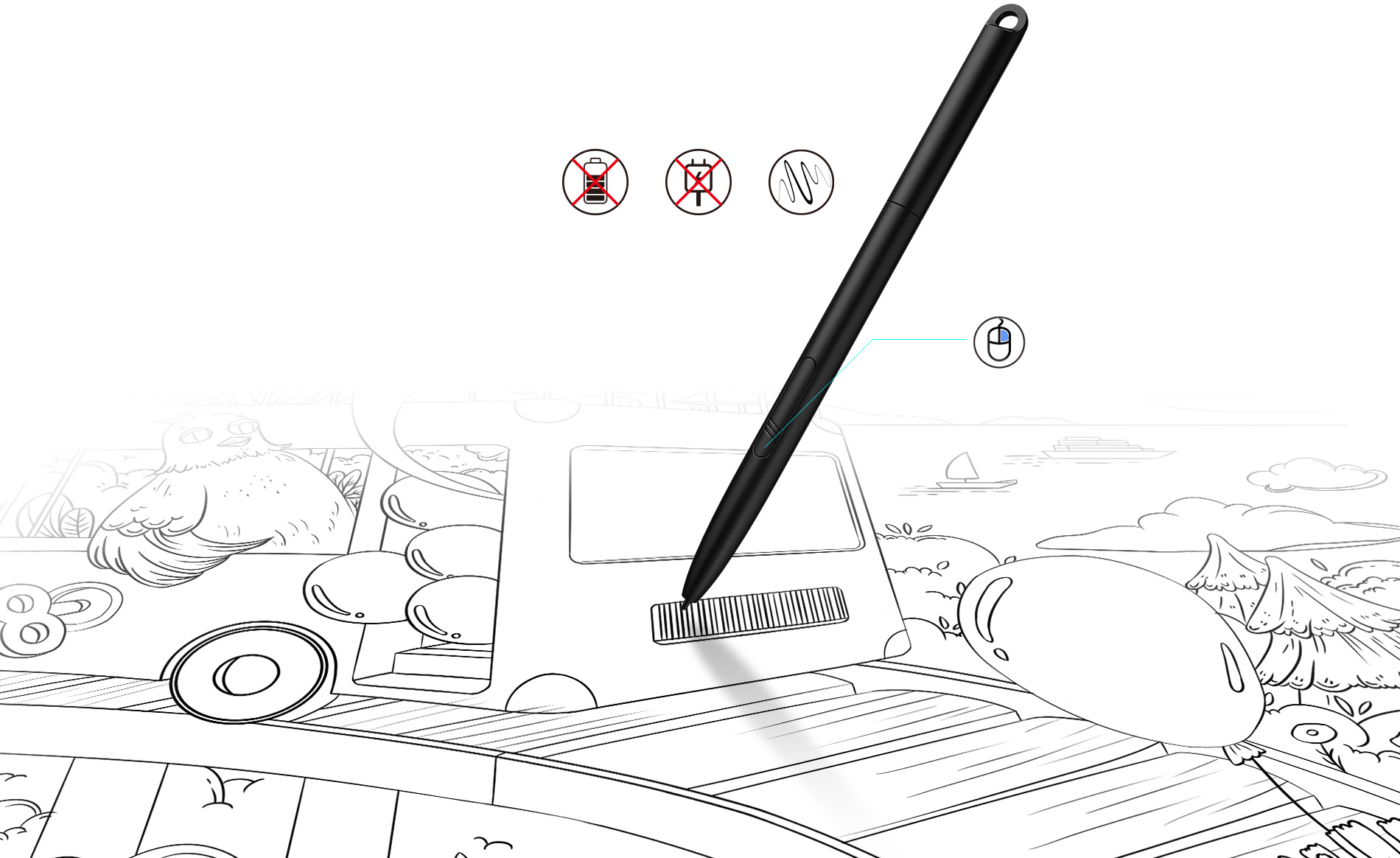 Battery-Free Stylus Pen PH3 does not require charging